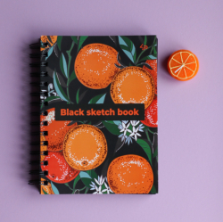 Блокнот TM Profiplan «Black sketch book» four, A5