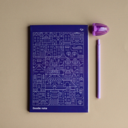 "Блокнот TM Profiplan Two in one, ""Doodle Note"", Blue A5"