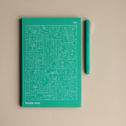 "Блокнот TM Profiplan Two in one, ""Doodle Note"", Green A5"